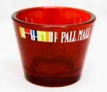 Pall Mall Tabak, Windlicht, Teelicht, rot transparent, Kelchform
