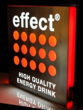Effect Energy, LED Leuchtreklame, Leuchtwerbung, Edelstahl, dimmbar!!