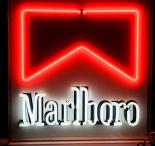 Marlboro Neon aniemiernde Leuchtreklame, 80er Jahre, einstellbar, rar!!