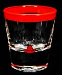 Sierra Tequila Shotglas, Stamper, Limited Edition, rot