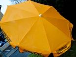 Kümmerling Kräuterlikör, Sonnenschirm, orange, Willkommen in der Runde