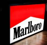 Marlboro LED 80er Jahre XXL Leuchtreklame, Aluminiumgehäuse, Ausstellungsstück