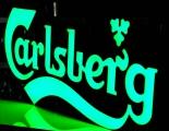 Carlsberg Bier, LED XXL Leuchtreklame, Leuchtwerbung Carlsberg grün, dimmbar!