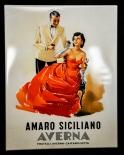 Averna Likör, Blechschild, Werbeschild Amaro Siciliano