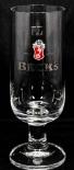 Becks Bier Pokal, Glas/ Gläser, Bierglas, 0,25l, Ritzenhoff, Schriftzug SILBER
