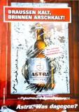 Astra Bier, A2 Poster, Plakat Draußen kalt... Kiez, Poster, Bild