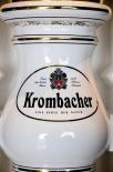 Krombacher Bier, Keramik Zapfsäule, 3 Zapfhahnanschlüsse, Messingbeschläge, neu