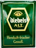 Diebels Alt, Bier, Webeschild, Blechschild, grün Herzhaft...