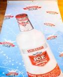 Smirnoff Vodka, Werbebanner, Banner, Indoor Hellblau