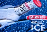 Smirnoff Vodka, Werbebanner, Banner, Indoor Dunkelblau