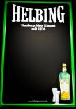 Helbing Kümmel, Kreidetafel, Blechschild / Werbeschild, 3D Blechschild