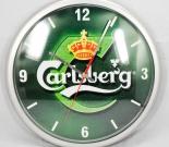 Carlsberg Bier, Wanduhr, Carlsberg Uhr, Kunststoff, 35 cm!!