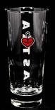 Astra Bier Glas / Gläser, Bierglas Frankonia 0,25l St Pauli Hamburg Kiez