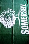 Somersby Cider, Stranddecke, Picknick Decke, links gekettelt, grün...sehr edel