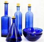 Gauloises Tabak 4 x Essig, Basilikum und Öl Flasche + 3 x Glasschale