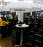 Krombacher Bier, Bistrotisch inklusiv Sonnenschirm, weiss