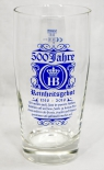 Hofbräu Bier, Exklusiv Tumbler, Willibecher 0,5l 500 Jahre Editions Glas