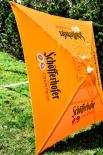 Schöfferhofer Bier Quadrat - Sonnenschirm, orange, sehr hohe Qualität.