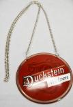 Duckstein Bier Brauerei, Zapfhahnschild, Emaile, Schild, Tresen, Rund-Weizen