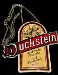 Duckstein Bier Brauerei, Zapfhahnschild, Emaile, Schild, Tresen, Vertikal