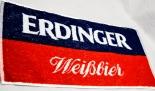 Erdinger Weißbier Brauerei, Barhandtuch, Bartowel, blau/rot