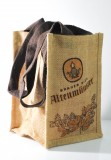 Altenmünster Bier, Jute Flaschenträger, Flaschentaschee, 4er Träger, faltbar