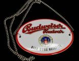 Budweiser Bier Brauerei, Zapfhahnschild, Emaile, Schild, Tresen, Beispiel