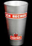 Astra Bier Glas / Gläser, Becher ICH Becher in silber