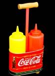 Coca Cola, USA, Ketchup u. Senf Träger, original Produkt USA