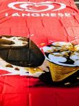Langnese Eis, XXL Vertikal Flagge, Fahne, Cornetto, Magnum