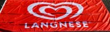 Langnese Eis, Horizontal Flagge, Fahne, Langnese