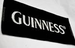 Guinness Bier, Barhandtuch, Bartowel, schwarz/weiß