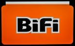 Bifi Salami, Aufkleber, kleine Ausführung, orange