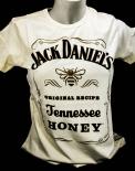 Jack Daniels Whiskey, Women T-Shirt Honey beige Gr.M, full Logo