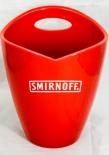 Smirnoff Vodka, Flaschenkühler, Eiswürfelbehälter, Acryl, rot