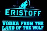 Eristoff Vodka, XXL LED-Leuchtreklame in Edelstahl gebürstet, dimmbar!!