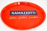 Ramazzotti Likör, Serviertablett, Rundtablett, Leben, Lieben rote Ausführung