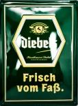Diebels Alt, Bier, Werbeschild, Blechschild, grün Frisch vom Faß