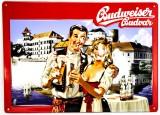 Budweiser Bier, Blechschild, Werbeschild Mann / Frau No. 7
