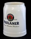 Paulaner Weissbier, Tonkrug, Steingut Seidel 0,5l