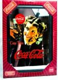 Coca Cola, Werbespiegel in Kunststoffrahmen schwarz Coke Time