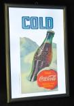 Coca Cola, Werbespiegel in Kunststoffrahmen schwarz COLD