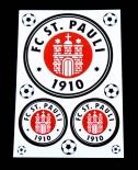 1. FC St. Pauli, Astra Bier, Aufkleber 3er Set  FC St. Pauli 1910