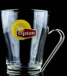 Lipton Ice, Eistee Glas, Edelstahl, Das Glas für die Mikrowelle, Edelstahlhenkel