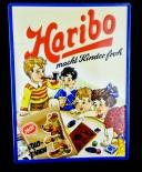 Haribo, Blechschild, Werbeblechschild Haribo macht Kinder froh