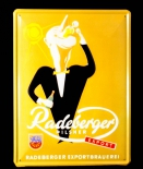 Radeberger, Bier, Werbeblechschild, Metalschild Radeberger Export