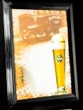Diebels Bier, Werbespiegel in Echtholzrahmen schwarz Brauerei Diebels