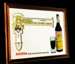 Averna Likör, Werbespiegel in Echtholzrahmen braun Der große Amaro