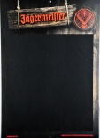 Jägermeister Likör, Mini Kreidetafel aus Pappe, Abwischbar..