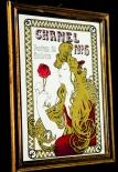 Chanel No.5, Werbespiegel in Echtholzrahmen braun Chanel No.5